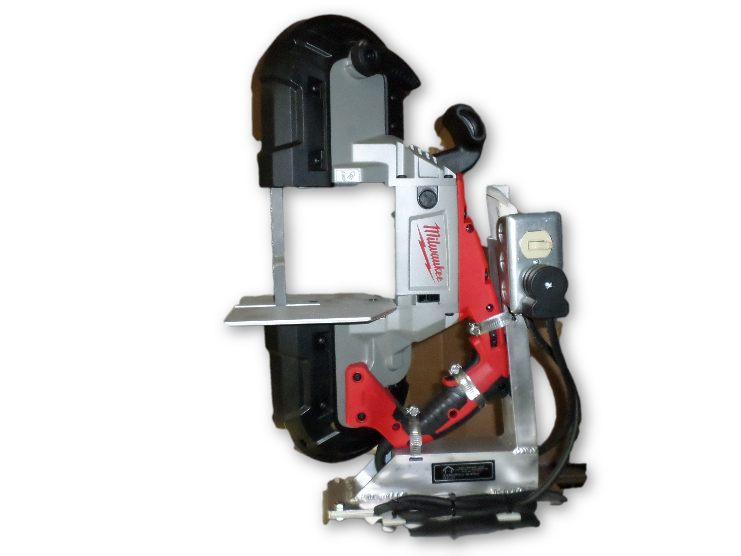 Milwaukee Band Saw with Bracket and Cutting Table