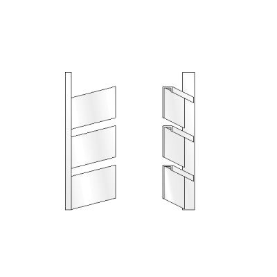 3 High Open Shoe Rack, Left