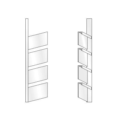 4 High Open Shoe Rack, Left
