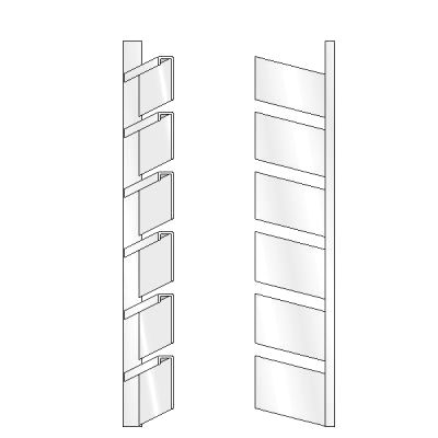 6 High Open Shoe Rack, Right