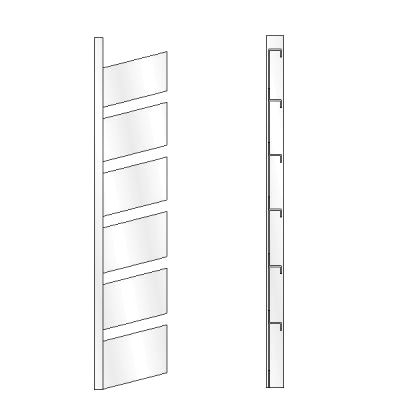 6 High Open Shoe Rack, Straight