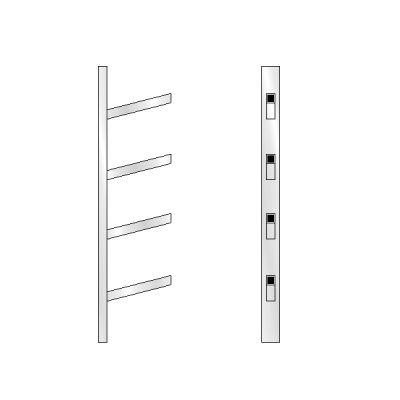 4 High Bar Shoe Rack