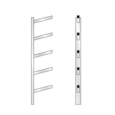 5 High Bar Shoe Rack