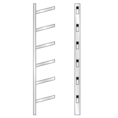 6 High Bar Shoe Rack