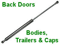 Back Door Struts for Bodies, Trailers & Caps